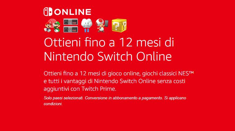 Avete solo una settimana per richiedere il vostro abbonamento Nintendo Switch Online, con Twitch Prime gratis 12 mesi.