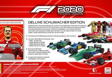 <h2 class='entry-title'>In uscita un nuovo DLC di F1 2020, in onore di Michael Schumacher.</h2><h4 class='entry-subtitle'><span style='color:#808080;font-size:14px;'> Codemaster presenta il DLC.</span></h4>