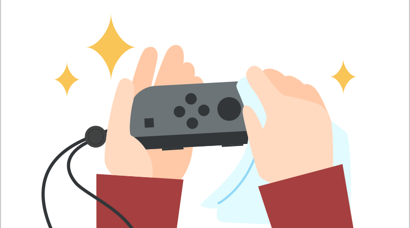 Nintendo spiega come disinfettare la Switch e i Joy Con.