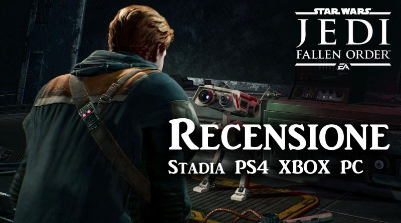 <h2 class='entry-title'>Videorecensione Star Wars Jedi: Fallen Order</h2><h4 class='entry-subtitle'><span style='color:#808080;font-size:14px;'>per STADIA PS4 e Xbox</span></h4>