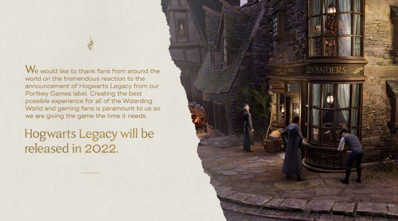 Hogwarts Legacy Interactive annuncia il rinvio al prossimo anno.