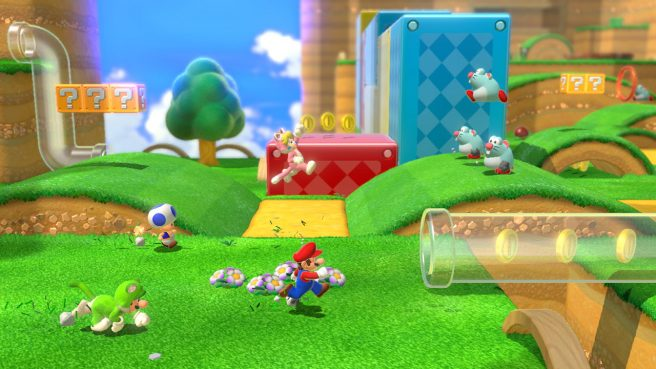 Super Mario 3D World + Bowser's Fury supporta i comandi di movimento.