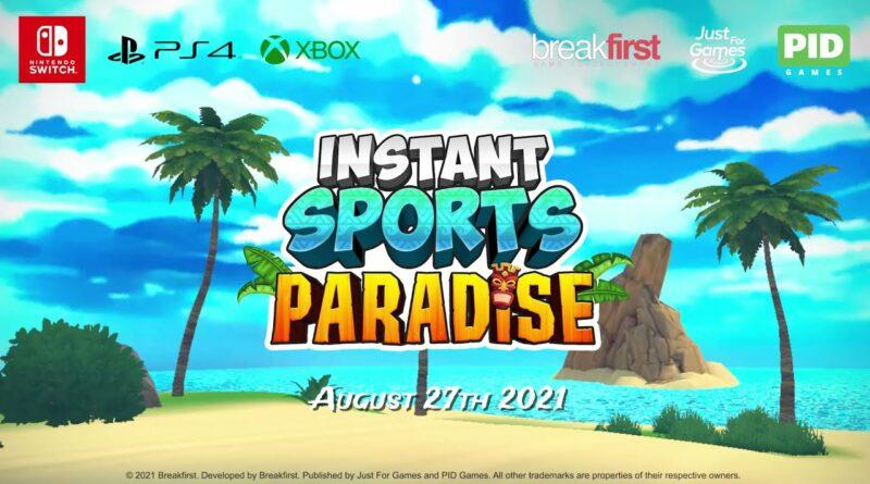 INSTANT SPORTS Paradise! sarà disponibile dal 27 agosto 2021