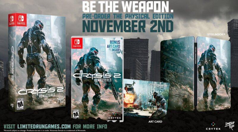 Svelata la versione fisica di Crysis 2 Remastered per Switch